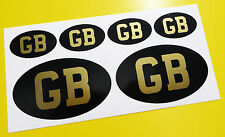 CAFE RACERstyle  'GB' GOLD set stickers decals for frame and helmets