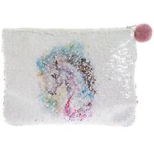 Réversible Sequin Blanc Licorne Porte-Monnaie Filles Sac à Main Pochette