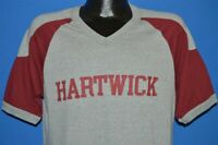 vintage 80s HARTWICK GRAY MAROON RINGER JERSEY 50/50 t-shirt LARGE L