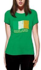 Ireland Flag Women T-Shirt For St. Patrick's Day Green Irish Patty's Lucky Tee