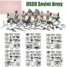 URSS Ejército Guerra Mundial 2 Minifiguras ladrillos Bloques De Construcción De Lego