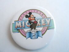 "VINTAGE 2 1/4"" PROMO PINBACK BUTTON #87-018 - DISNEY - MICKEY MOUSE 60 YEARS #2"
