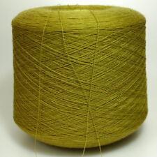 100% Wolle Garn Senf Stricken Kone Spule 1,4 kg  /311