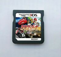 502 IN 1 Games Card Cartridge Multicart For Nintendo DS 3DS 2DS R4  64G Racing