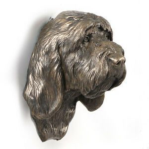 Grand Basset Griffon Vendeen, dog statuette to hang on the wall, UK