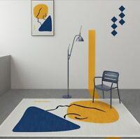 Nordic Abstract Minimalist Living Room Big Carpet Coffee Table Sofa Lying Carpet