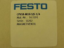 New Festo Solenoid valve, CPV18-M1H-5JS-1/4, 163191