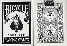 Skull Bicycle Playing Cards Poker Size Deck USPCC + Magic Tricks & Online Video