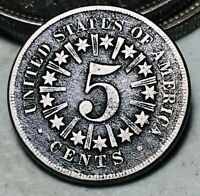1866 Shield Nickel 5 Cents 5C RAYS Ungraded Good Civil War Era US Coin CC6650