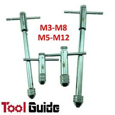 4pc M3-8 and M5-M12 Extra Long Ratchet Tap Wrench T Type Tapping Handle 2.6-8mm