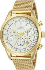 Invicta 25225 Men's Speedway Chrono Yellow Gold Mesh Bracelet Watch