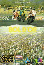 B32- Moto Revue Programme officiel Bol d'Or 1980