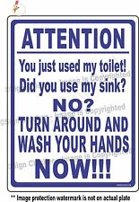 Funny Sign - BATHROOM, warning, hand washing, food service signs, bath sign,