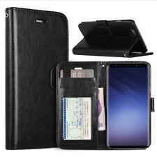 Etui Portefeuille Folio Pour Samsung Galaxy S9 Couleur Noir Housse