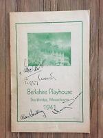 """""""Old Acquaintance"""" Cast Signed Program -Peggy Wood/Alan Handley et al"""