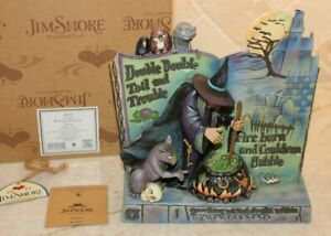 Jim Shore Retired Halloween Witch Cauldron Curses Spell Storybook 4047839 RARE
