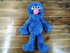 Authentic Sesame Street Grover Furry Plush Toy Gund Blue Soft Stuffed 15 inch