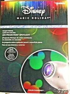 Disney Magic Holiday LED Projection Spotlight color changing - shine on House