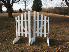 Horse Jumps 3 Panel Slant Wooden Wing Standards 5ft/Pair - Color Choice #214