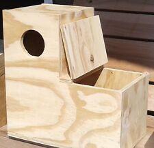"Boot nest box (14""x14""x7"" 7""toe) parrot, parakeet, conure"