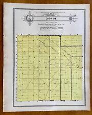 New Listing1915 Plat Map Twnsp 29-14 Sheridan precinct, Holt County, Nebraska Ancestry
