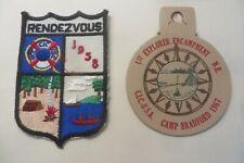 Vintage 1957 & 1967 C.I.C. Activity Patches Leather CAMP BRADFORD Explorer