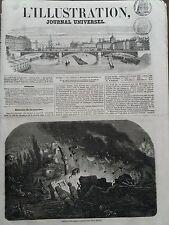 LA ILUSTRACIÓN 1856 NO 720 EXPLOSIONES D'UN TIENDA POLVO EN LA ISLA DE RODAS