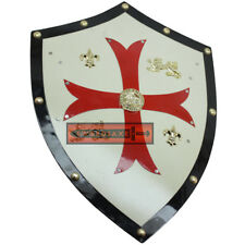 Templar Knights Shield Medieval Royal Red Cross Crusader Swiss Knight Freemason
