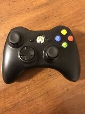 Xbox 360 Black Wireless Controller Genuine Microsoft  Model 1403