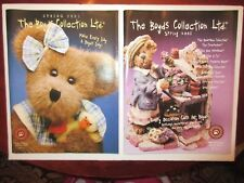 2 Boyds Bears Collection Ltd Spring 2001 Catalogs Magazines Brand New
