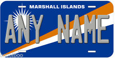 Marshall Islands Flag Any Name Novelty Car License Plate