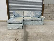 Laura Ashley Kendal Corner Sofa Upholstered in Villandry Duck Egg