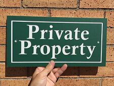 """Rectangle PRIVATE PROPERTY Sign 14x7"""" 1/4"""" King ColorCore Any Color"""