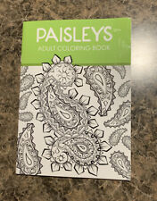 Paisleys Adult Coloring Book 32 Pages