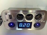 Land Rover Discovery, Defender 3 Way Usb Charger 2 Switches, Battery Monitor