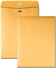 New listing 100 Business Envelopes 9x12 Kraft Clasp Yellow Brown Postal Manila Catalog Flaps