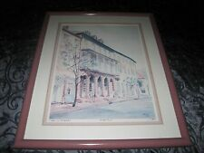 "George Griffith (Griff) "" Dock Street Theater "" Signed Framed & Matted Print"