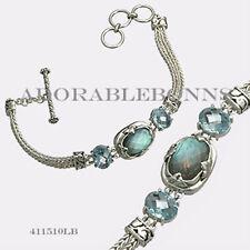 Authentic Lori Bonn Sterling Silver Mojo Snake Chain Bracelet 411510LB