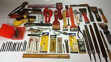 Box lot tools, nicholson file scraper red devil micrometer jig saw blade pipe