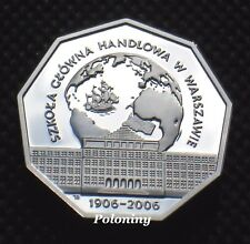 COMMEMORATIVE SILVER COIN OF POLAND - WARSAW SCHOOL OF ECONOMICS (MINT) Ag