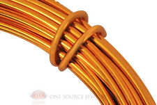 39 Ft. Tangerine Aluminum Craft Wire 12 Gauge Jewelry Making Beading Wrapping