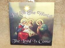 Joy to the World Nativity Scene Lighted Canvas Wall Decor Sign
