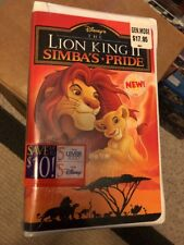 New & Sealed The Lion King II: Simba's Pride (VHS, 1998)