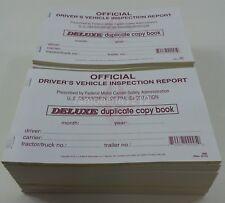 Lot of 25 JJ Keller 685 (15B) Detailed Driver's Vehicle Inspection Reports