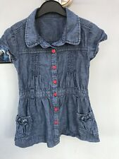 ❣️Girls Denim Short Sleeves Dress Age 4-5 Years