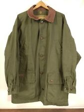 Timberland Weathergear Hunting Field Jacket Size XL Green Cotton Leather Collar
