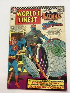 World's Finest Comics #165 (Mar 1967, DC) Robin Appearance 12 Cent Cover