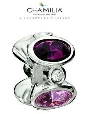 66% OFF Genuine CHAMILIA 925 Silver Purple Swarovski  Majestic Charm RRP £60