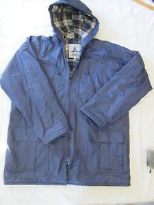 Misty Harbor Mens Sz Large Rain Coat Large Original Flannel Lined Hood Full Zip