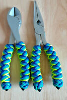 Fishing Plier Set CUSTOM TURKS HEAD KNOT Handle with Bonus Plier Sheath #P249-TH